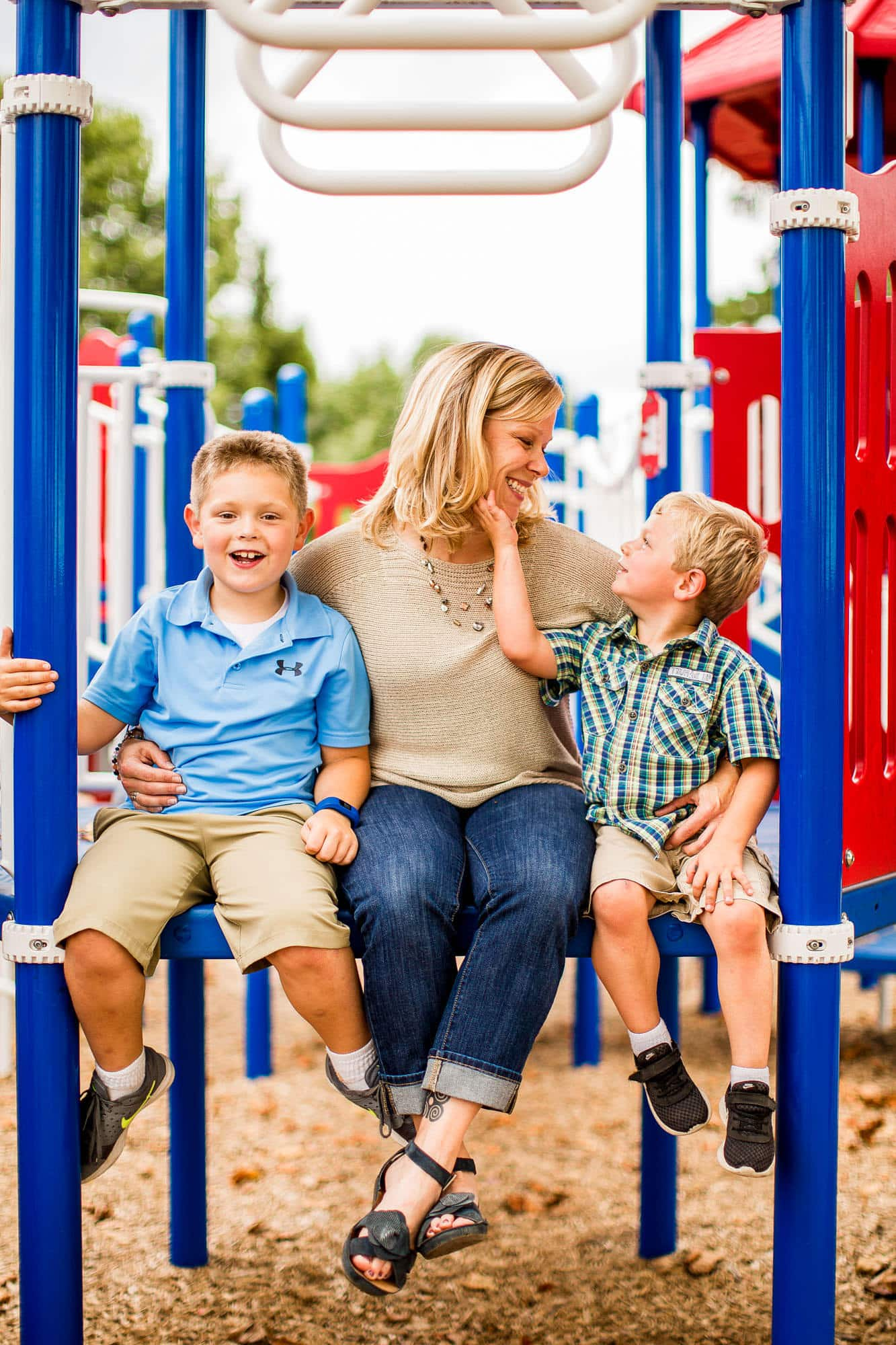 Playground Family Portraits Kelly Heck Photography Taneytown Maryland