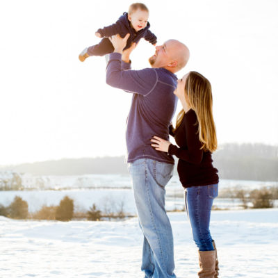 Family Portrait in Frederick Maryland Kelly Heck Photography