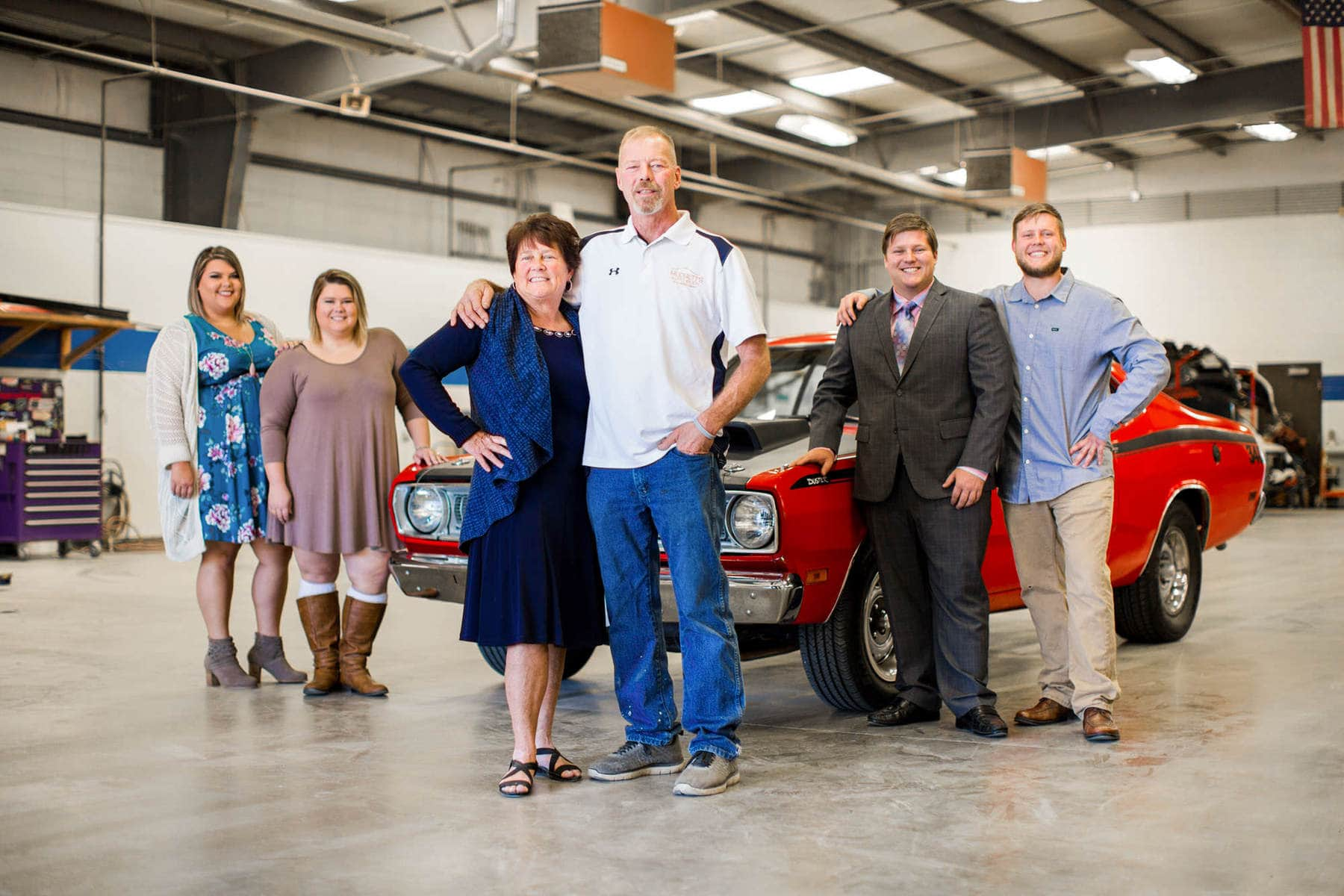Mudgett's Auto Body Team Portrait by Kelly Heck Photography Finksburg Maryland