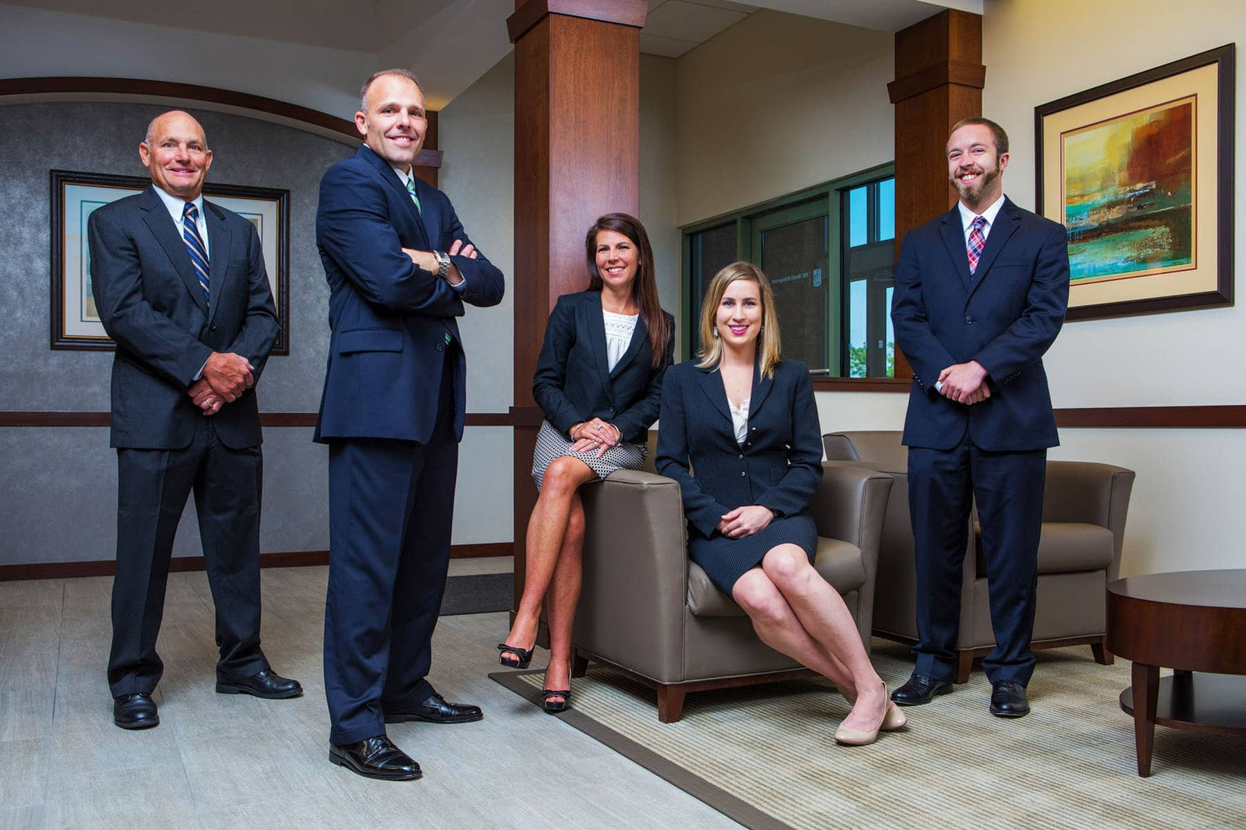 RBC Wealth Management Team Portrait by Kelly Heck Photography Westminster Maryland