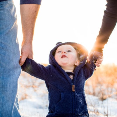 Winter Family Portraits in Monrovia, Maryland by Kelly Heck Photography