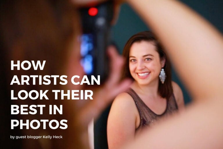 how artists can look their best in photos - GUEST BLOG POST with ArtsyShark