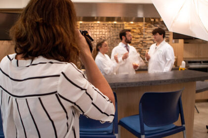 Behind The Scenes with Kelly Heck Photography on a Corporate Portrait Session / Business Branding Photo Shoot at Fuchs North American in Hampstead, Maryland https://www.kellyheckphotography.com/ | Photo Credit: Adam Stultz www.adamstultz.com