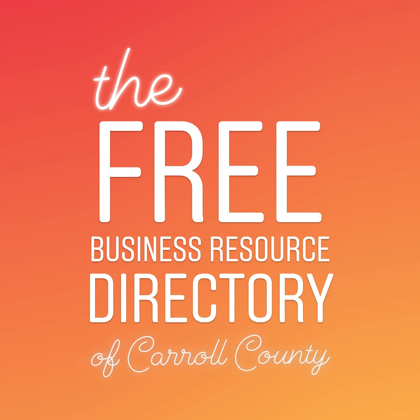 FREE Carroll County Business Resource Directory by Kelly Heck Photography