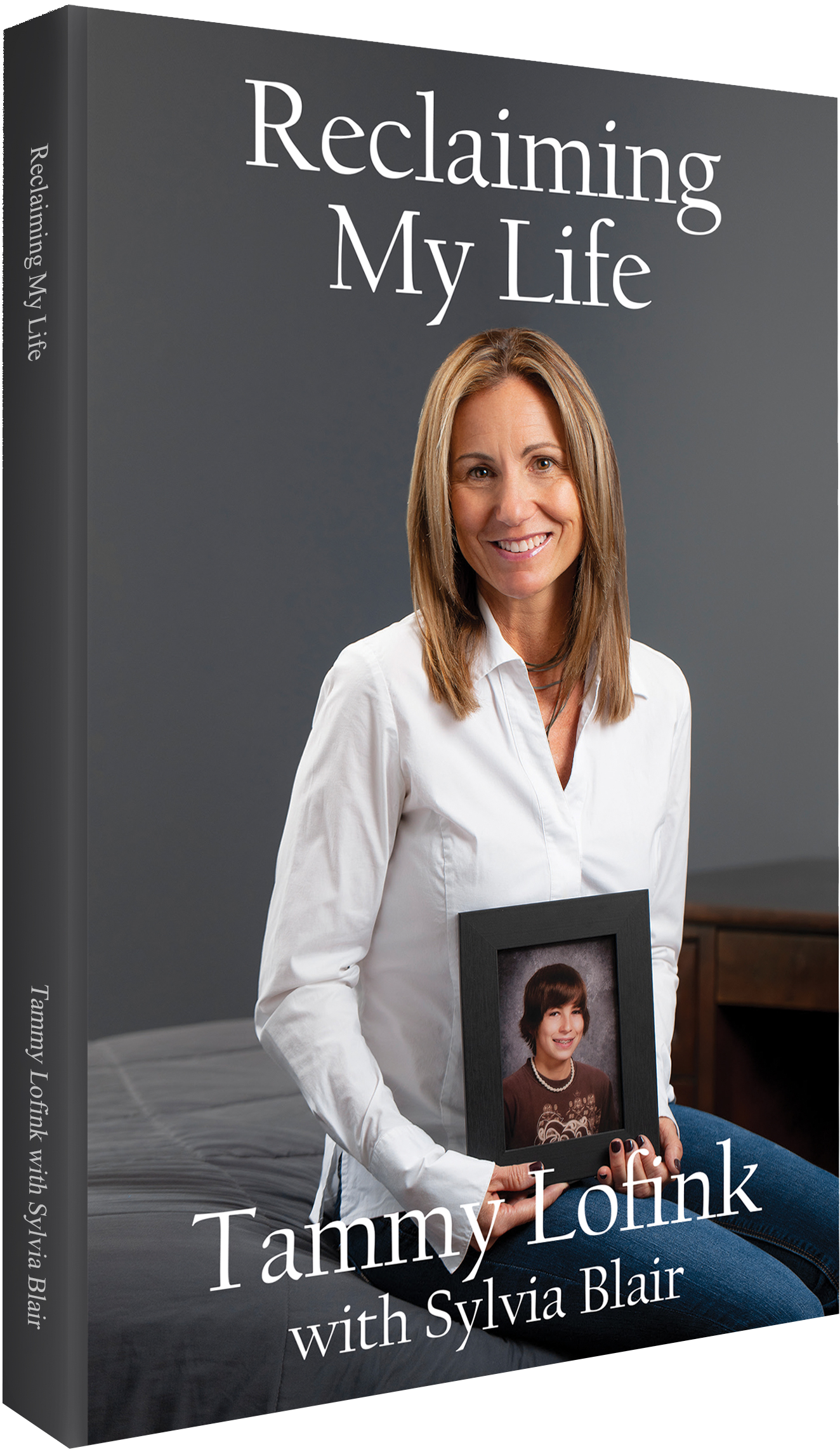 """Reclaiming My Life"" Book by Tammy Lofink of Rising Above Addiction - Cover Portrait by Kelly Heck Photography"
